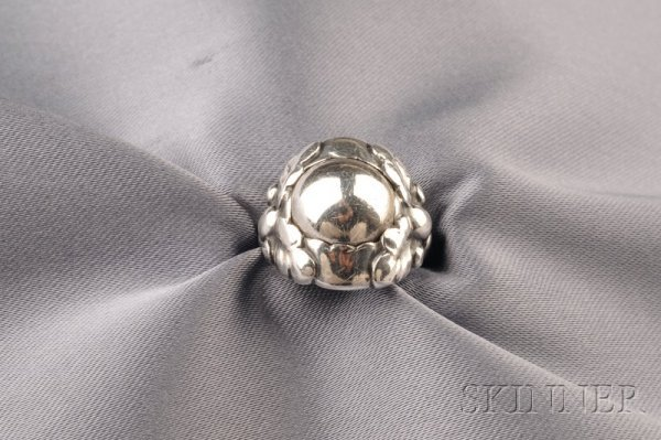 3: Sterling Silver Ring, Georg Jensen, Denmark, 1933-19