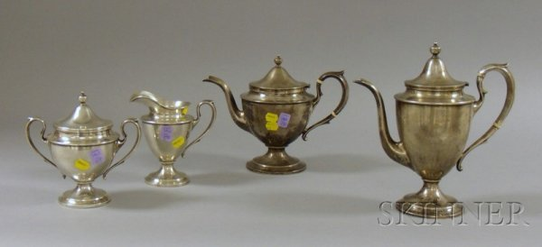 5: Four-Piece Sterling Silver Tea and Coffee Set, possi