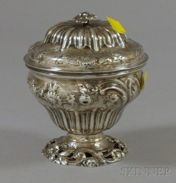 7: George II Silver Covered and Footed Dish, London, 17