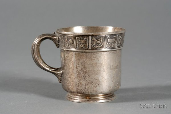 7A: Gorham Sterling Child's Mug, early 20th century, cy
