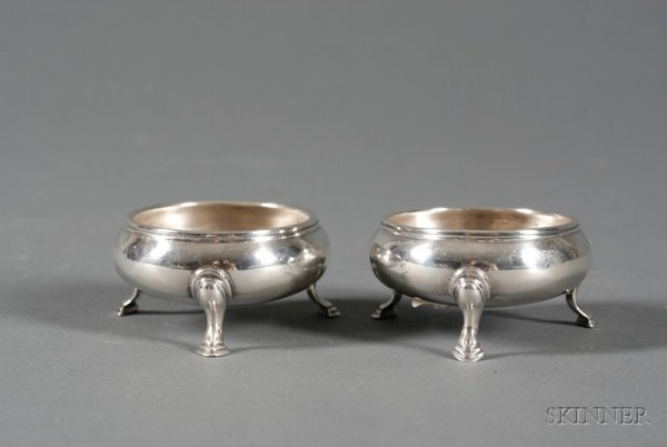 11A: Pair of George V Silver Open Salts, London, 1916,