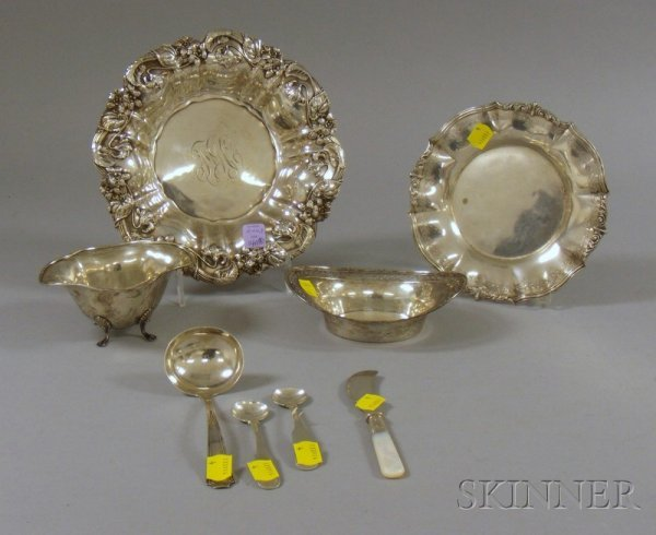 14A: Eight Silver Table Articles, including a Whiting s