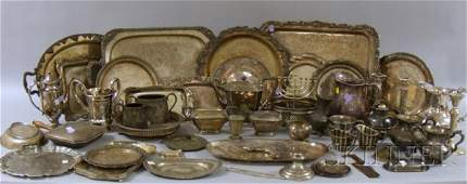 125A Group of Silver Plated Serving Material includin