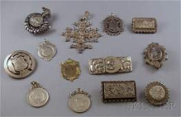163 Small Group of Assorted Silver Jewelry including