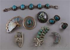 164: Small Group of Assorted Mostly Silver Jewelry, inc