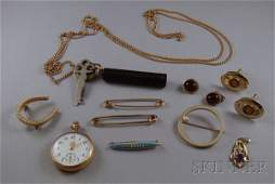 178 Small Group of Gold Estate and Costume Jewelry in