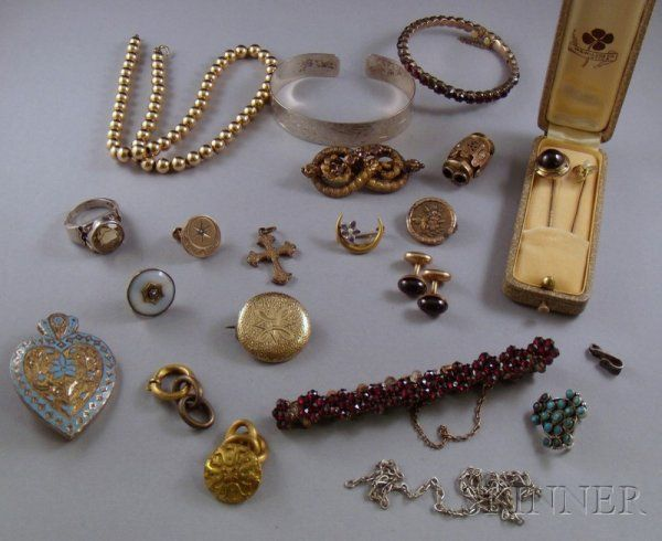 Small Group of Estate Jewelry, including two stick