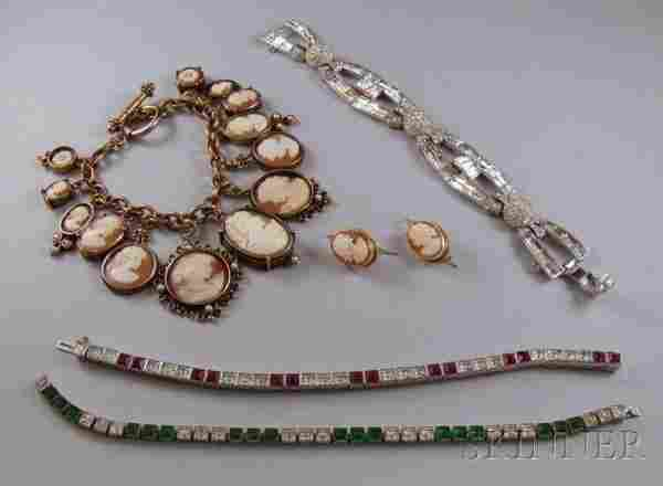 Small Group of Costume and Other Jewelry, includin