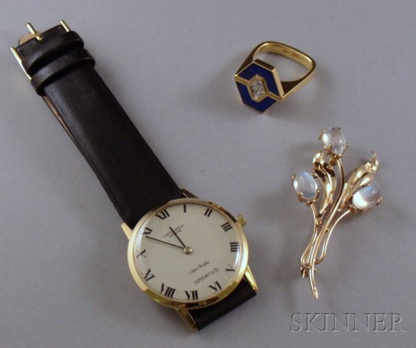 192: Three Pieces of Estate Jewelry, including a man's