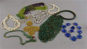 224: Group of Costume Jewelry, including an Asian clois