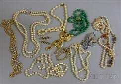229: Small Group of Costume Jewelry, makers include Cin