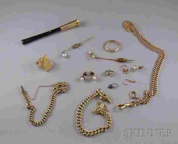 Small Group of Assorted Gold Estate Jewelry, inclu
