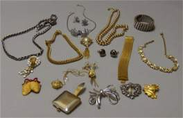 338: Group of Assorted Mostly Signed Costume Jewelry, i