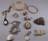 385: Small Group of Costume Jewelry, makers include Wel