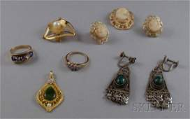 397 Small Group of Assorted Estate and Costume Jewelry