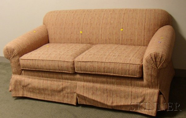 505: Upholstered Settee, approx. lg. 66 in.