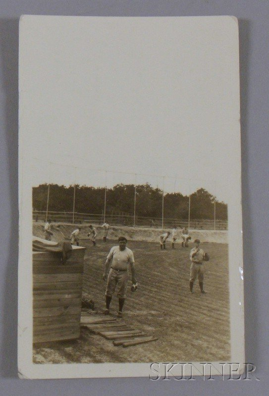 508A: Circa 1925 New York Yankees Babe Ruth Baseball Pr