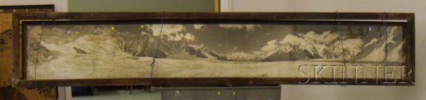 517: Large Framed Assembled Panoramic Photograph of a H