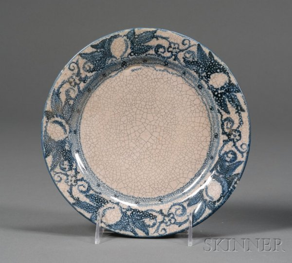 14: Dedham Pottery Horse Chestnut Plate Glazed earthenw