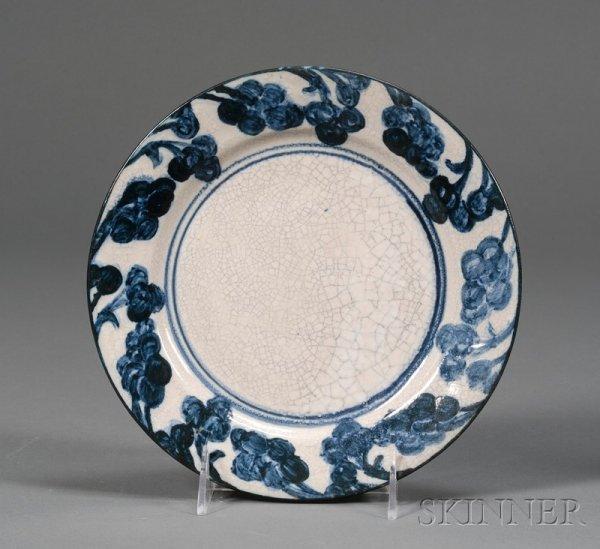 15: Dedham Pottery Grape Plate Glazed earthenware Dedha
