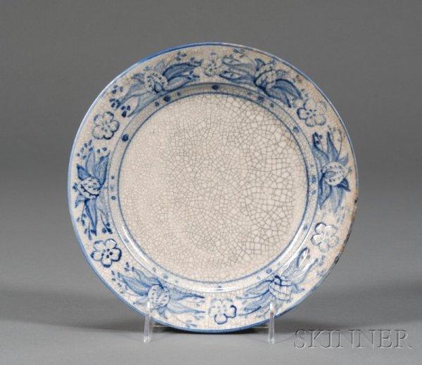 17: Dedham Pottery Pineapple Plate Glazed earthenware D