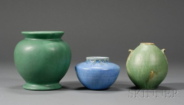 22: Three Pottery Vessels Glazed earthenware United Sta