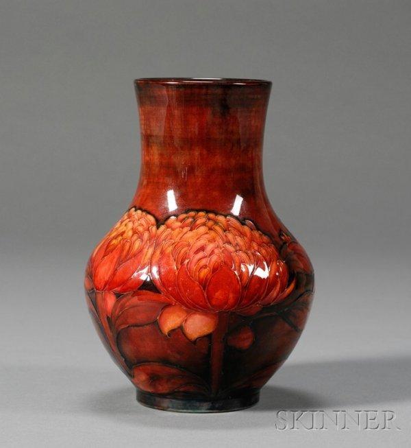 97: Moorcroft Pottery Vase Glazed earthenware England,