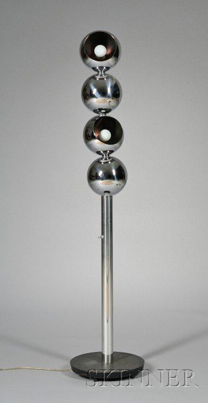 449: Veart Industrial Design Floor Lamp Chromed metal I