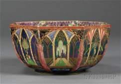 338: Wedgwood Fairyland Lustre Octagonal Moorish Bowl,