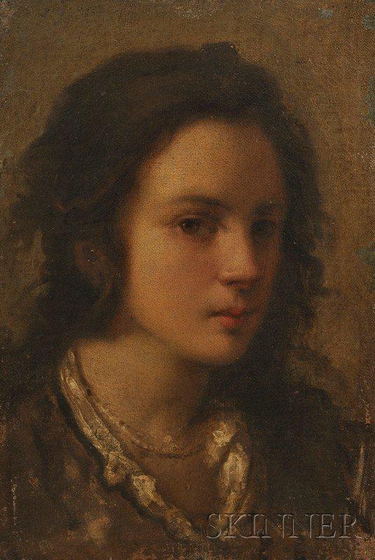 549: Italian School, 19th Century Head of a Girl Unsign