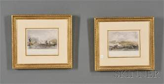 812: Set of Four Framed English Prints of China Trade H