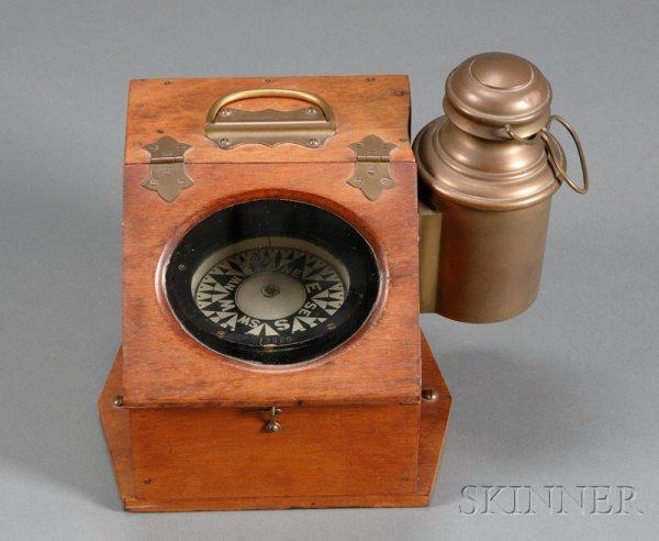 10: Slant Front Binnacle Compass by Ritchie, Boston, th