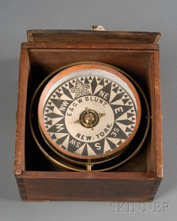 11: Box Compass by E. & G. W. Blunt, New York, dovetail