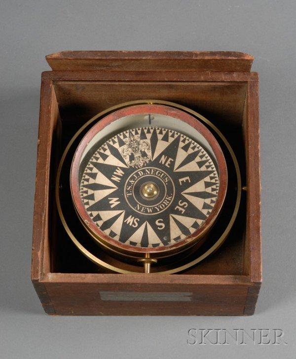 13: Box Compass by T. S. & J. D. Negus, New York, the d