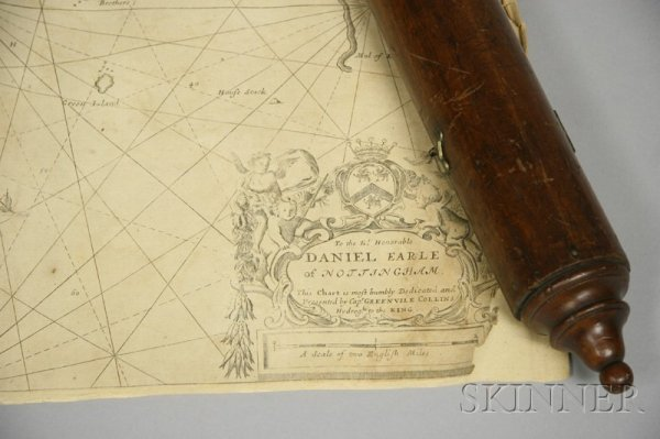 18: Reproduction Sea Chart, titled Part of the Maine Is