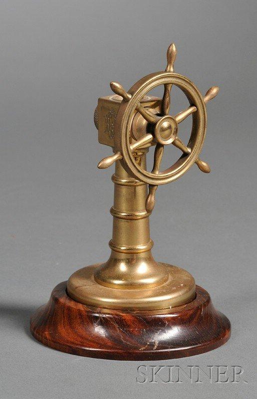 21: Miniature Brass Cigar Cutter, in the form of a ship