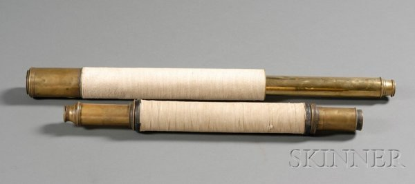 24: 1 3/4-inch Single-Draw Brass Spyglass, with 20 in.