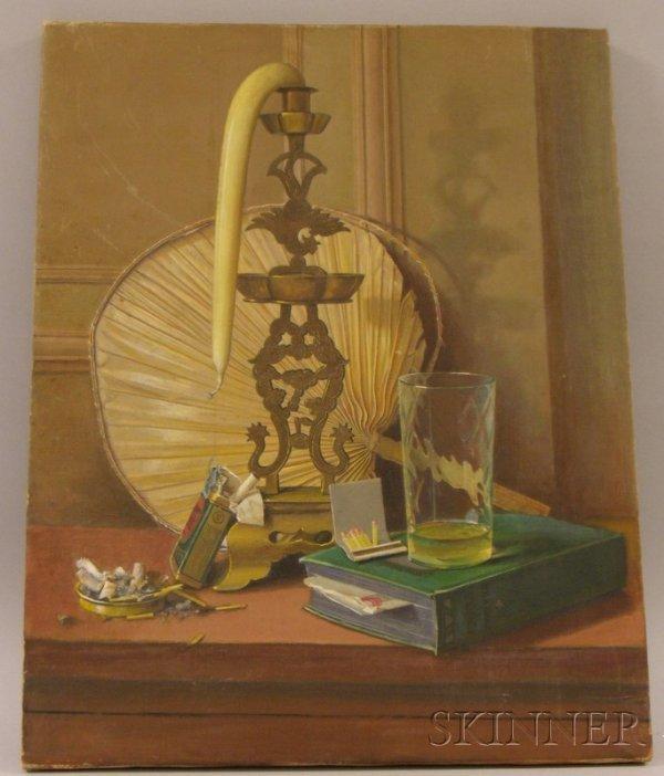 3: Unframed 20th Century American School Oil on Canvas