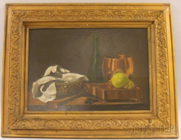 7: Framed 20th Century American School Oil on Canvas St