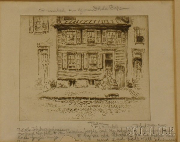 12: Pennell, Joseph (1857-1926), Walt Whitman House, Ca