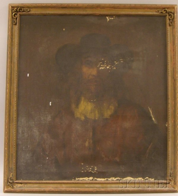17: Framed Oil on Canvas Portrait of a Man by Dimitri R