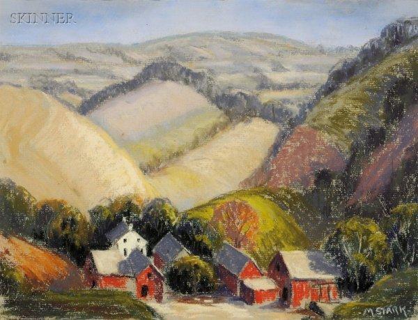 19: Lot of Two Landscapes: Frank W. Handlen (American,