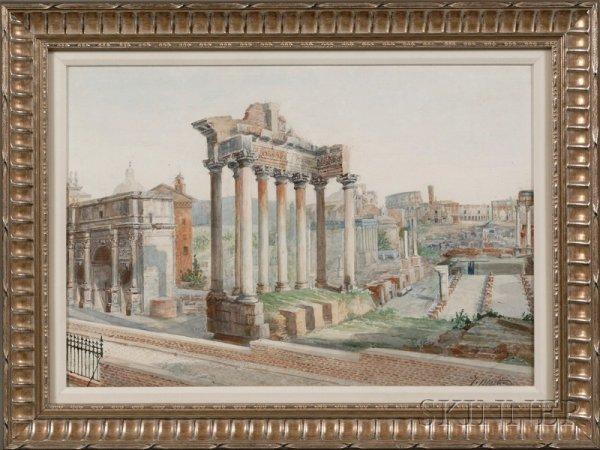 24: John Martin (British, 1789-1854), Roman Forum, Sign