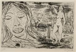 """200: A.R. Penck (German, b. 1939) Jutta, 1976. Signed """""""