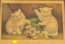 266: Lot of Three Framed Small-Format Currier & Ives Ha