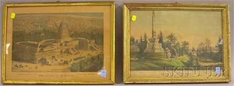 385 Four Framed Small Folio Lithographs including The