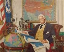 Dean Cornwell (American, 1892-1960) Portrait Stud