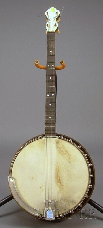 505: American Tenor Banjo, the peghead inscribed HENSON