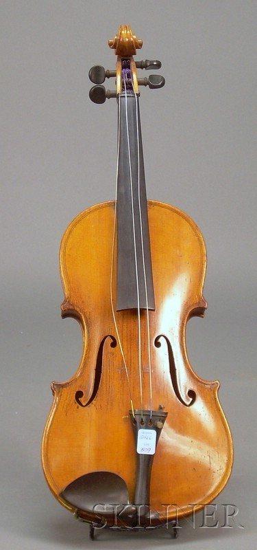 509: German Violin, c. 1920, labeled JOSEPH GUARNERIUS.