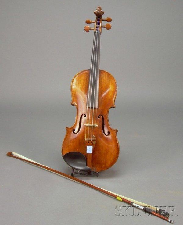 513: German Violin, c. 1920, labeled ANTONIUS STRADIVAR